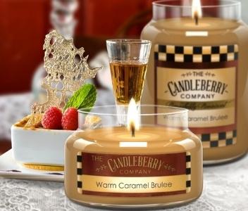 Candleberry Warm Caramel Brulee Candles