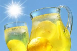 Iced cold lemonade
