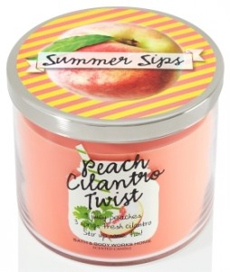 Peach-cilantro-twist-candle-bbw