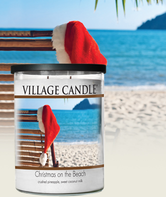 christmas on the beach village candle review
