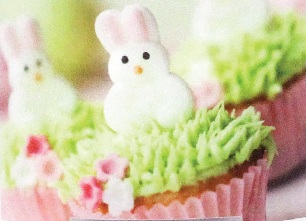 Bunny Cupcakes Candle