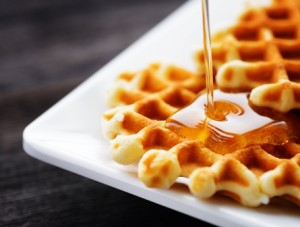 Golden Maple Waffles