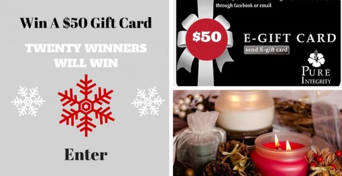 TWENTY WINNERS WILL WIN A $50 GIFT CARD (1)