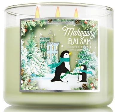 mahogany balsam candle-bbw