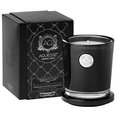 Aquiesse luxury candle black candle vessel and gift box