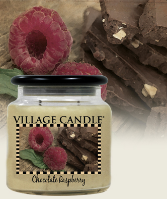 chocolate raspberry candle