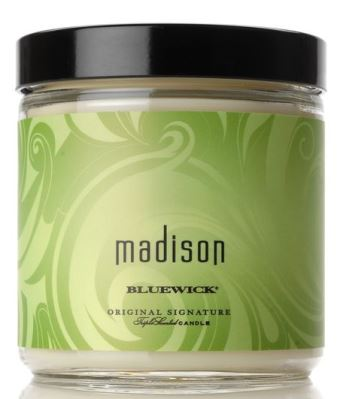 Madison bluewick candle