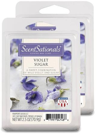 violet sugar wax melts