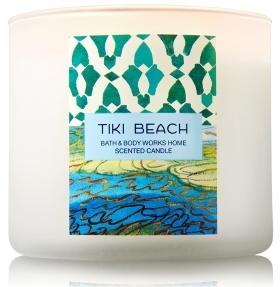 tiki beach candle