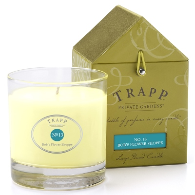 trapp bobs flower shoppe candle