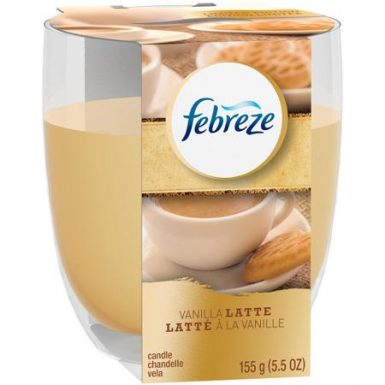 vanilla latte febreze candle