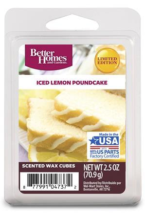 Iced lemon pound cake wax melts