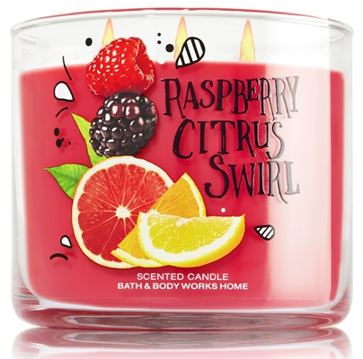 Raspberry citrus swirl candle