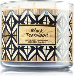 black teakwood candle