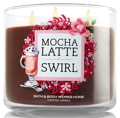 mocha latte swirl candle