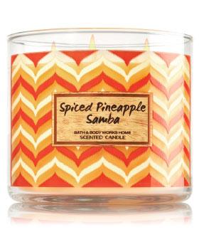 spiced pinapple samba candle