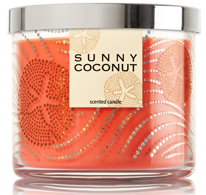 sunny coconut candle