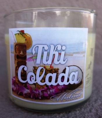 Tiki colada candle