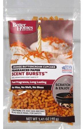 orange buttercream cupcake scent bursts