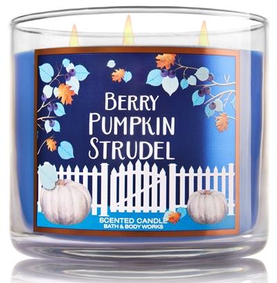 Berry Pumpkin Strudel Candle Bath & Body Works