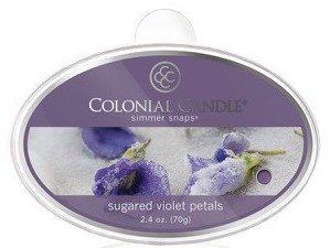 sugared violet petals