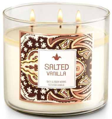 salted vanilla bath body works scented candle review. Black Bedroom Furniture Sets. Home Design Ideas