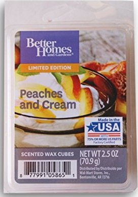 Peaches And Cream Better Homes Scented Wax Melt Review