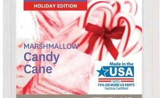 Marshmallow Candy Cane Scented Wax Melt Review
