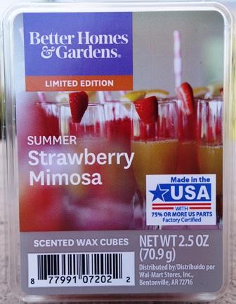 Summer Strawberry Mimosa Better Homes Wax Melt Review