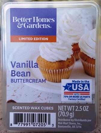 Vanilla Bean Buttercream Better Homes And Gardens Wax Melt Review