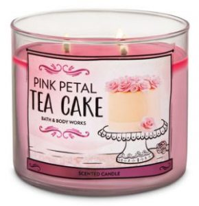 Pink Petal Tea Cake Candle Bath & Body Works