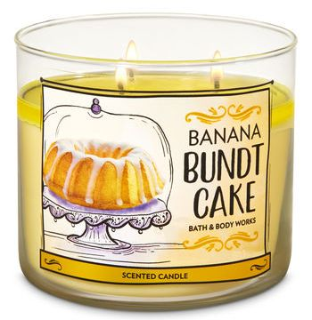 Banana Bundt Cake Candle Bath & Body Works