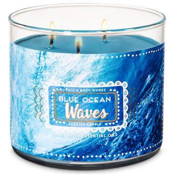 Blue Ocean Waves Candle Bath & Body Works