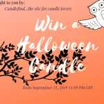 Enter To Win A Halloween Candle! Ends Sept. 27, 2019