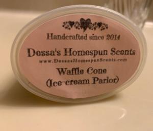 Strong Wax Melt Dessa's Homespun Scents Waffle Cone Ice Cream Parlor