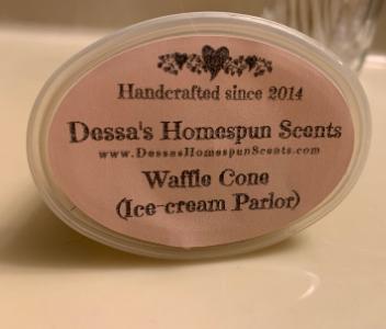 Dessa's Homespun Scents Strong Wax Melt Waffle Cone Ice Cream Parlor