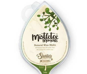 Holiday wax melt Mistletoe Moments from Shortie's Candle Company