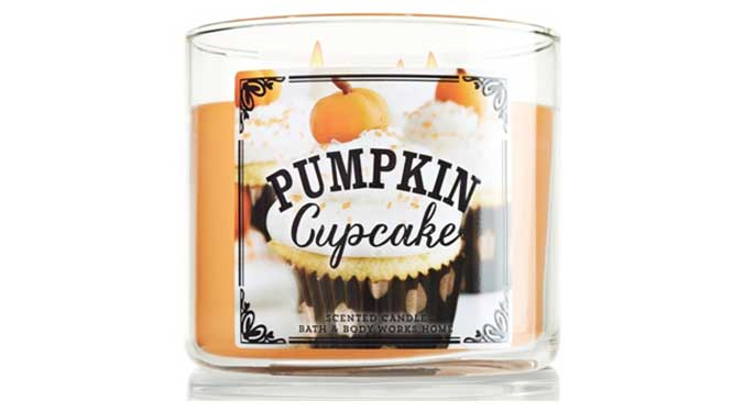 pumpkin cupcake candle