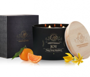 aromatherapy soy candle joy from aubert & amandine