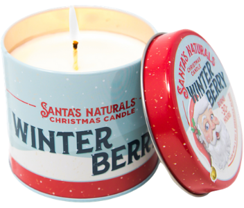 scented candle for christmas - Santa's Naturals Winter Berry
