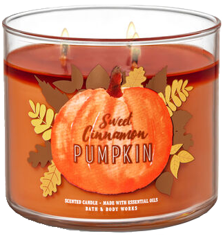 Sweet Cinnamon Pumpkin from Bath & Body Works pumpkin scented candle