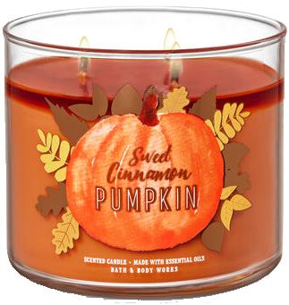 Sweet Cinnamon Pumpkin from Bath & Body Works pumpkin scented candle