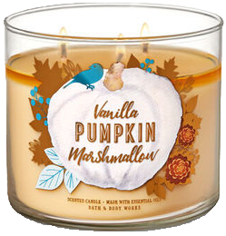 Vanilla Pumpkin Marshmallow from Bath & Body Works, pumpkin scented candle
