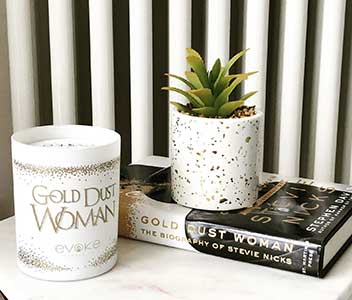Evoke Candle Co Gold Dust Woman Candle