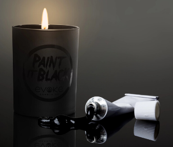 spicey scented candle paint it black evoke candle company