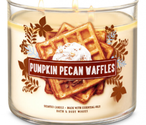 super strong candle pumpkin pecan waffles from bath & body works