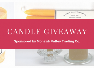 beeswax candle giveaway January 2020