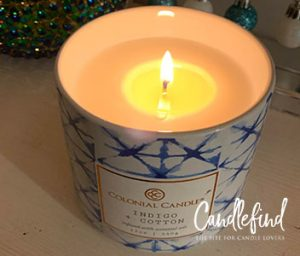 Colonial Candle Indigo + Cotton