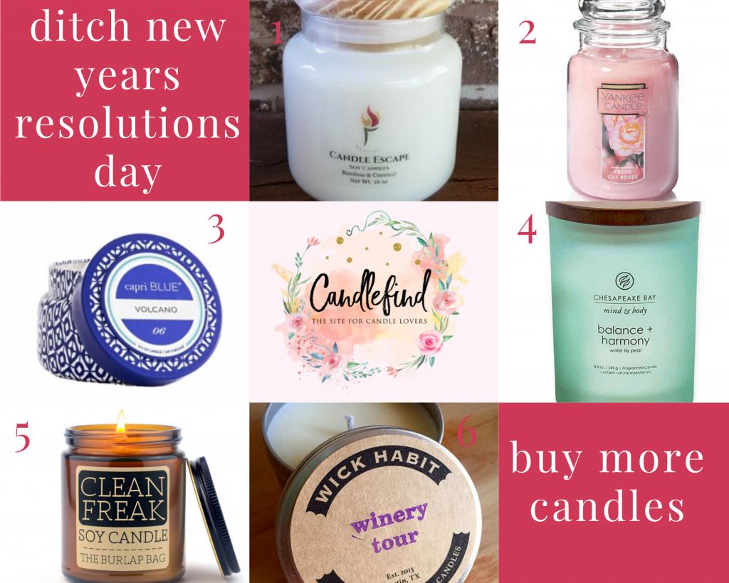 ditch new years resolutions and buy these great candles