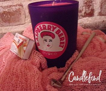 Evoke Raspberry Beret Candle